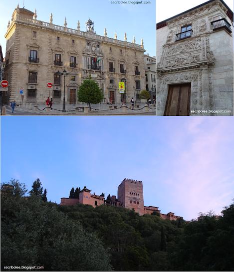 Viaje a Granada: Tribunal Superior de Justicia de Andalucía, Casa de Castril, Alhambra desde el paseo de los Tristes