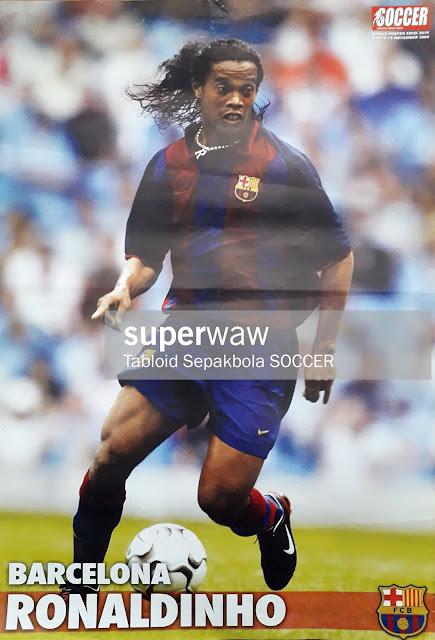 POSTER RONALDINHO (BARCELONA 2003)