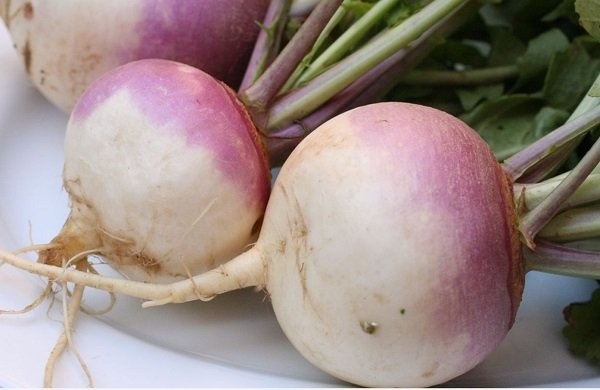What are the benefits of white turnips for the skin