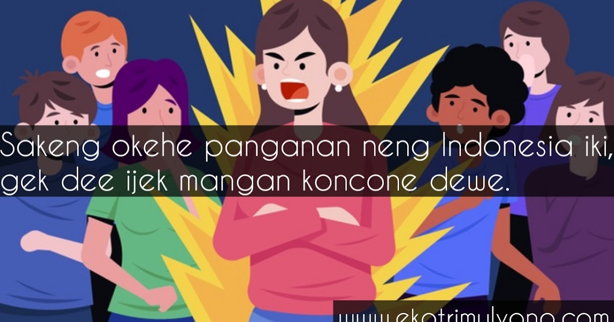 Kata Kata Nyindir Bahasa Jawa Paling Menyentuh