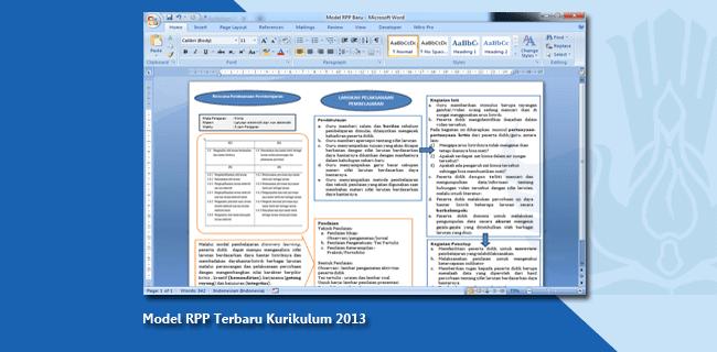 Model RPP Terbaru Kurikulum 2013