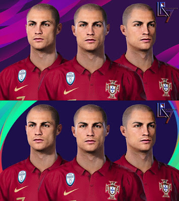 PES 2021 Faces Cristiano Ronaldo (Bald) by LR7