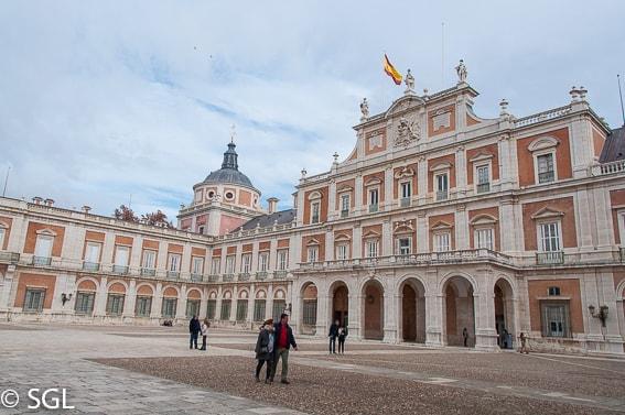 Exterior del palacio de Aranjuez. Madrid