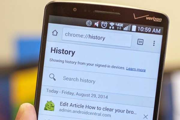 Methods to Recover Deleted Browsing History from Android - TechRecur.com