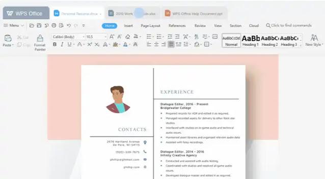 نبذة عن برنامج WPS Office لتحرير ملفات الوورد والجداول والعروض التقديمية