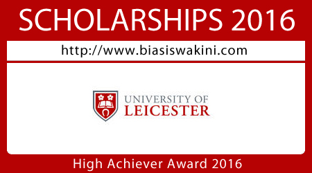 University Of Leicester High Achiever Award 2016