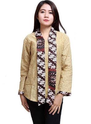 Model Baju Batik Wanita Seragam Kerja Terbaru