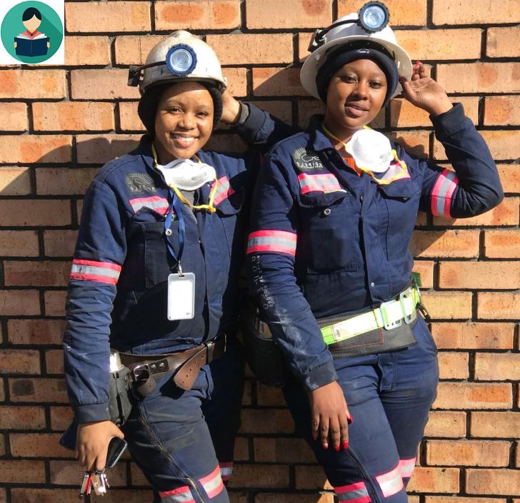 women working in mining