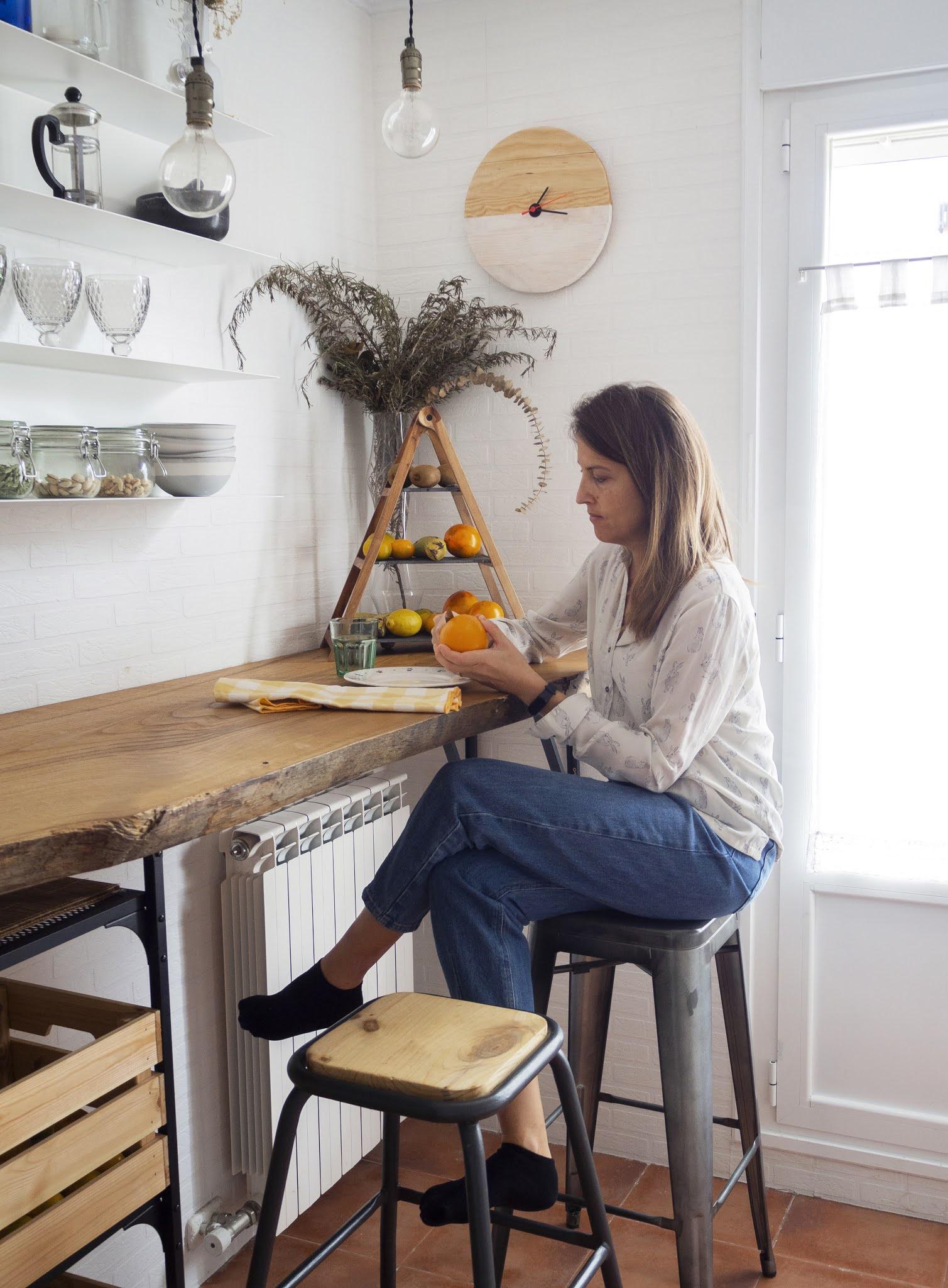 DIY Reloj de madera para nuestra cocina8