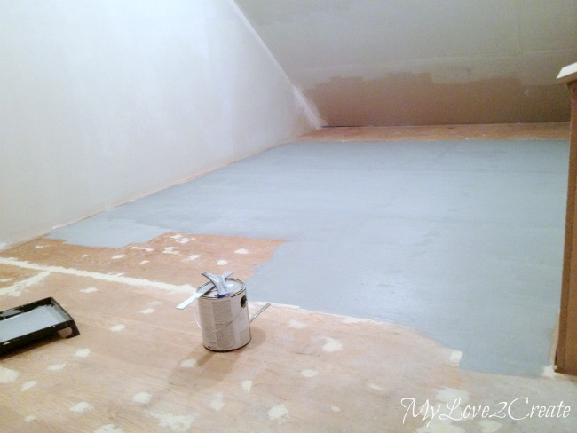 prepping and painting subfloor