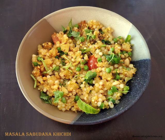 images of Masala Sabudana Khichdi / Vegetable Masala Sabudana Khichdi / Sabudana Khichdi Recipe / Sago Masala  Khichdi