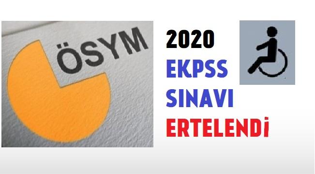 2020 EKPSS SINAVI ERTELENDİ