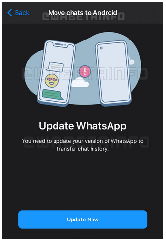 WhatsApp Cross-Platform Chat Migration Between Android, iOS Update