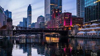 HD Wallpaper City, Buildings, Bridge, River, Architecture