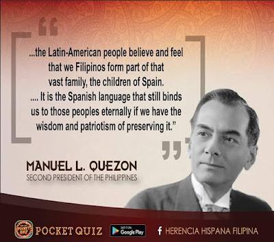 Manuel Quezon talks about the Hispano Filipino Heritage