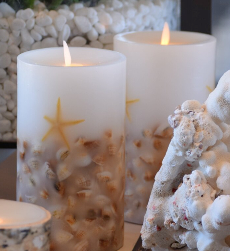 Shell Embedded Candle