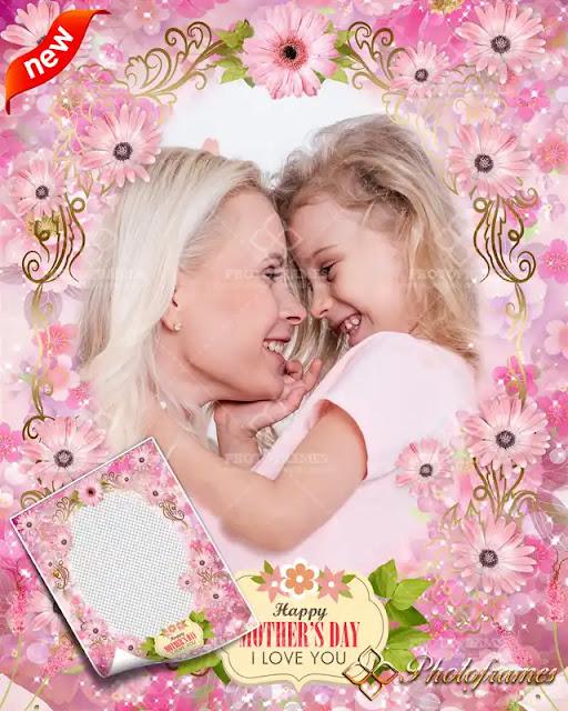 Diseño de marco para fotos del día de las madres