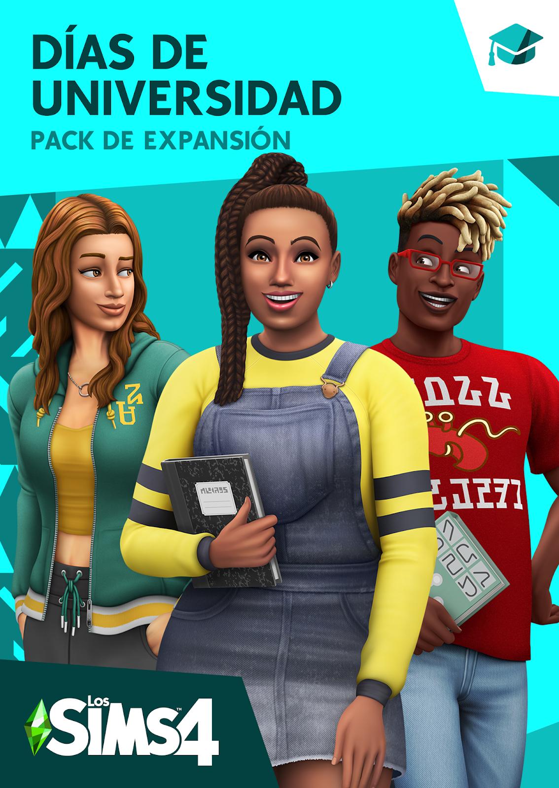 Descargar Los Sims 4 Dias De Universidad PC Cover Caratula