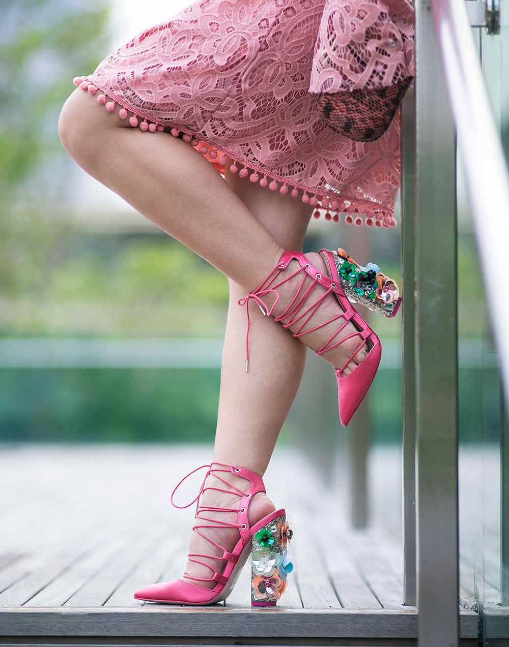 Crystal Phuong- ASOS Floral pointed heels