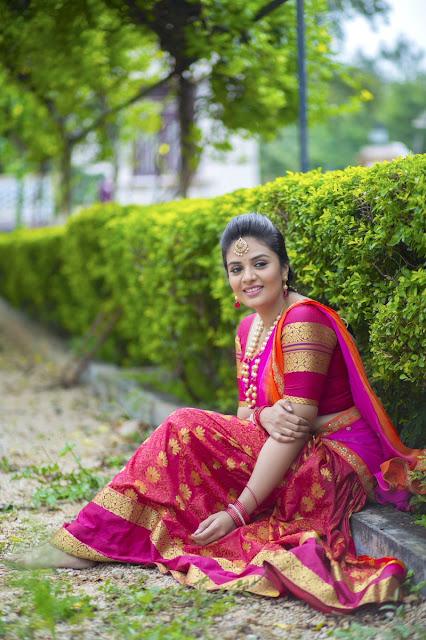 Anchor Sreemukhi Latest Half Saree Stills