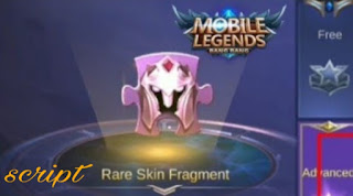 Script rare skin fragment mobile legend