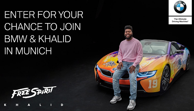 BMW is giving away the ultimate Free Spirit experience! Enter once for a chance to win a vacation to Munich where you'll see Khalid perform live in concert!