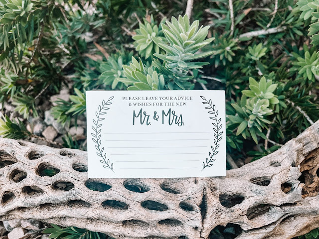 advice card for the new mr and mrs