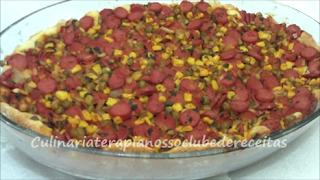 Torta de salsicha de liquidificador. Por Cristiane Macedo