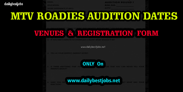 MTV Roadies Audition 2019 Registration Form
