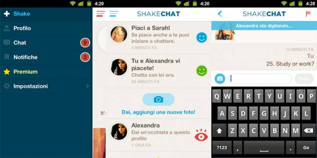Shakechat è un interessante e alternativa chat simile alla chatroulette per Android e iOS