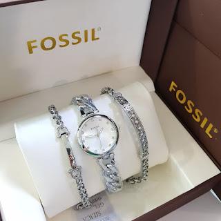 Jam Tangan Wanita Merk Fossil free Gelang