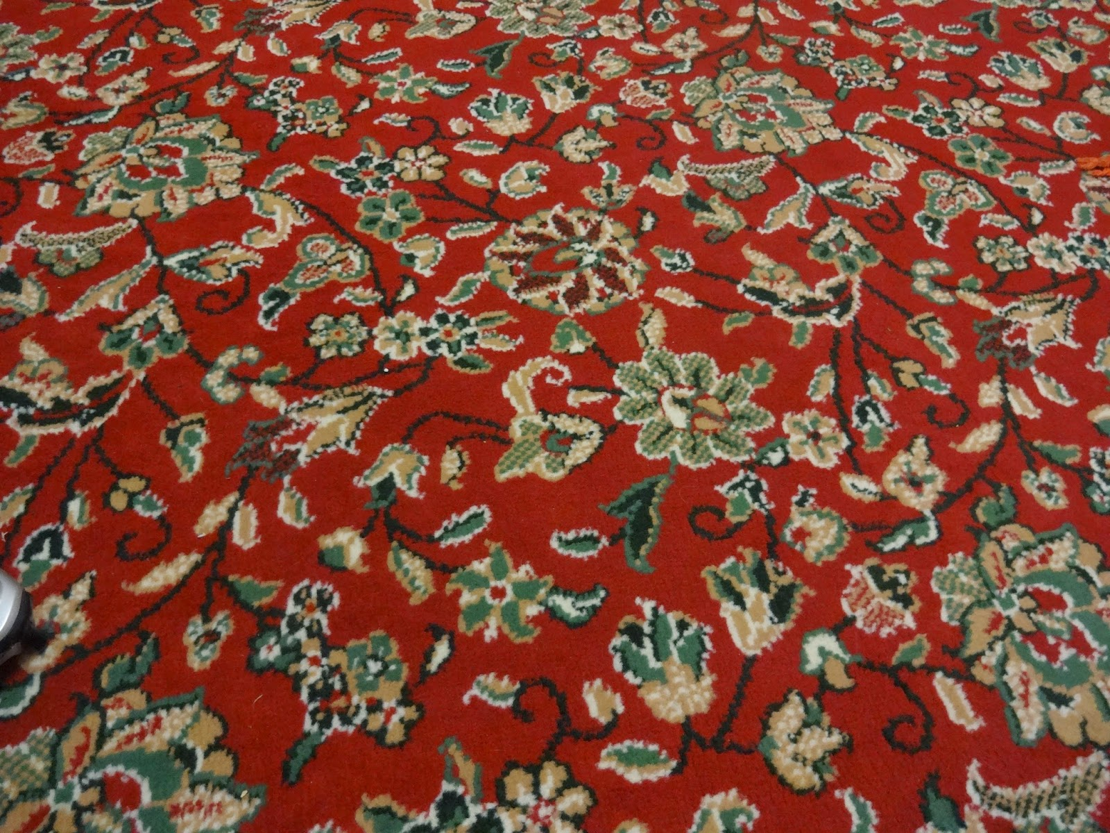 red floral retro carpet