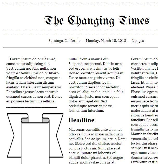 Tools That Make IT Click Google Doc Newspaper Templates - online newspaper template