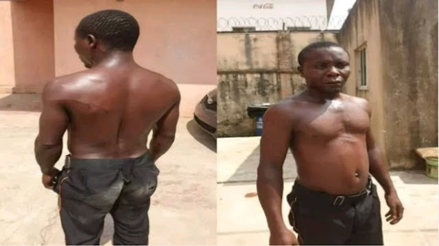 Tenant calls soldiers to beat up gateman for leaving duty post (Photos)