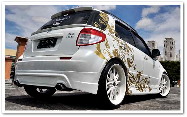 Gambar Motif Cutting Sticker Mobil Terbaru Yang Nge Trend