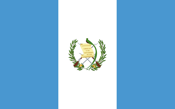Logo Gambar Bendera Negara Guatemala PNG JPG ukuran 600 px