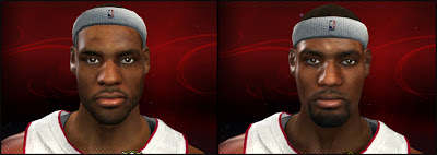 NBA 2K13 LeBron James Face Comparison