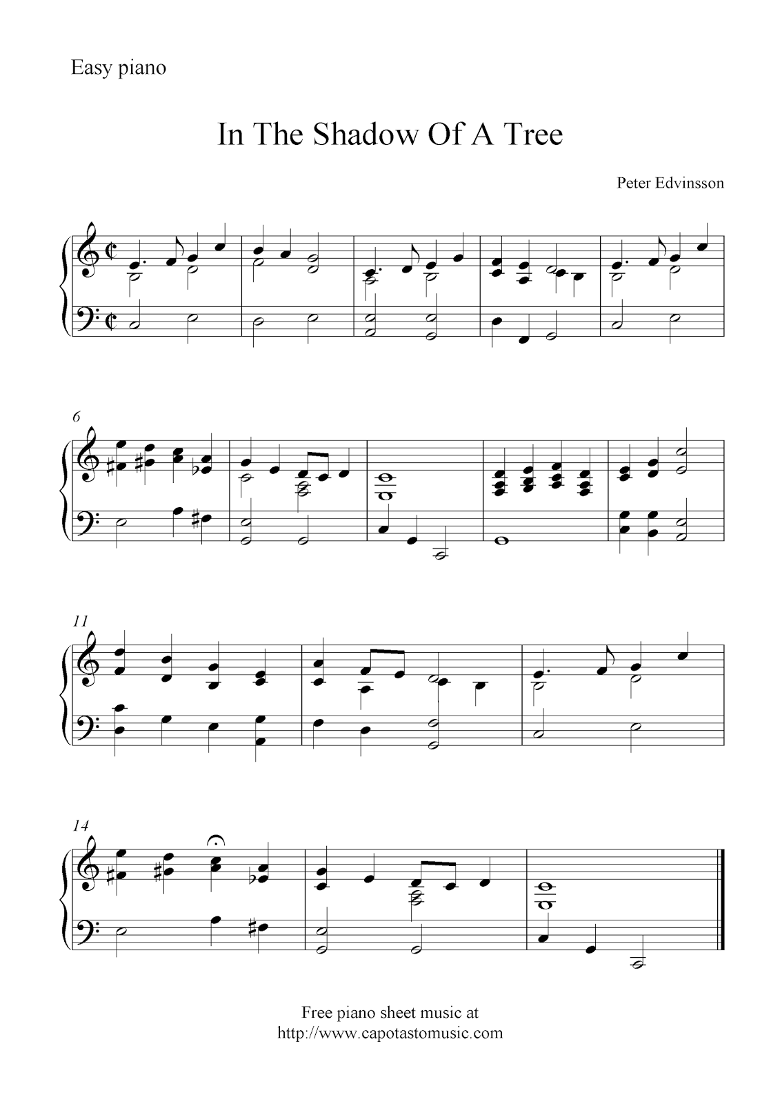 Summary -> Piano Free Sheet Music Download Printable Sheet Music