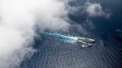 US Army sends aerial view at sea
