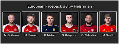 PES 2021 European Facepack #8 by Fleishman
