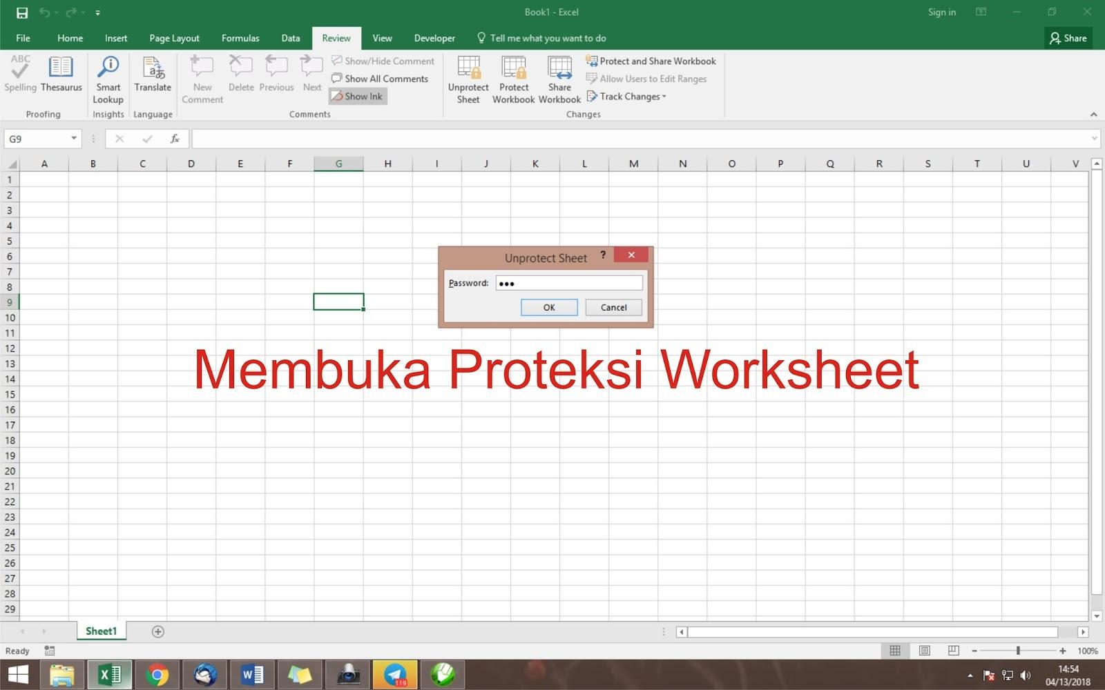 Membuka Protectsi Worksheet Cari Tahu Tentang Excel