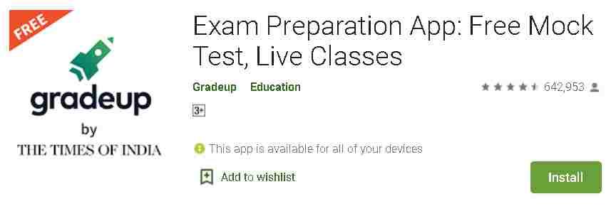Gradeup - Exam Preparation App