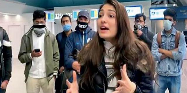 कोरोना की वजह से रोम एयरपोर्ट पर फंसी इंदौर की युवती | INDORE NEWS