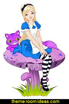 Alice in Wonderland Peel and Stick Wall Decals