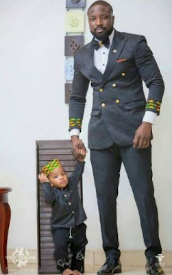 aaa - Ghanaian celebrities team up with their kids/dads in stylish photos to celebrate Father's day (Photos)