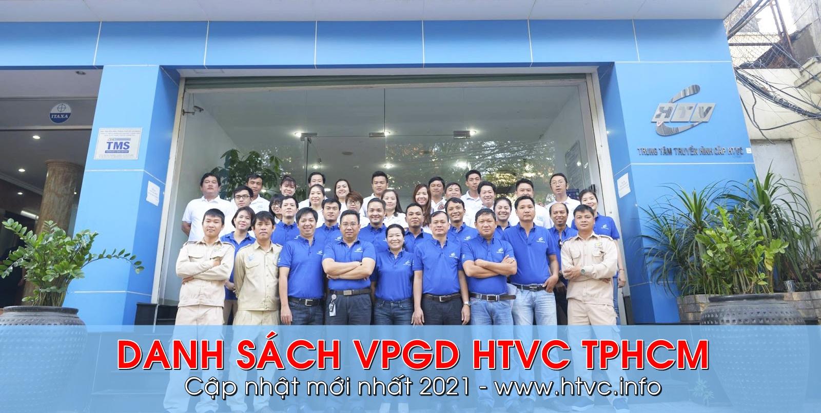 Danh sách văn phòng giao dịch của HTVC tại TPHCM