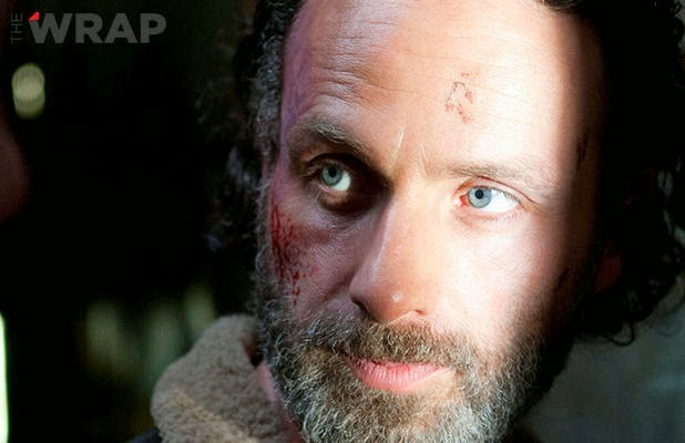 "Rick Grimes en el  final de la cuarta temporada de ""The Walking Dead"""