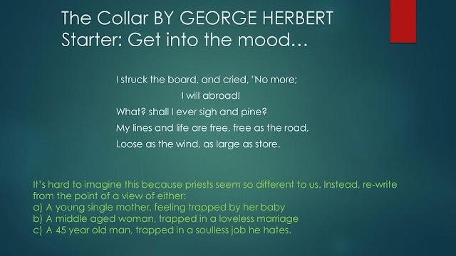 A Critical Appreciation of George Herbert's The Collar
