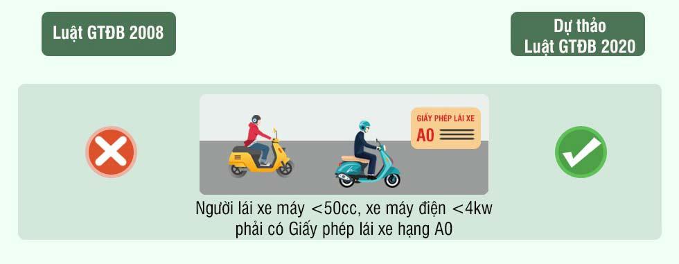 Hình 5 - Có thêm Giấy phép lái xe hạng A0.