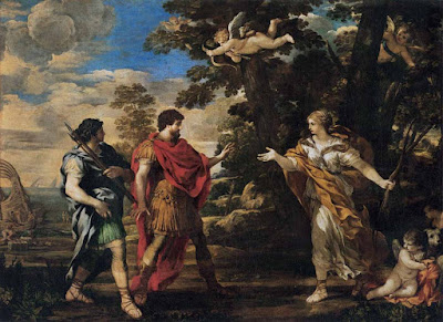 Venus aparece ante Eneas como cazadora, Pietro da Cortona